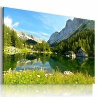 SKY FOREST NEW RIVER MOUNTAINS ORIGINAL HD RIVER LAKE View Canvas PAINT Wall Ar