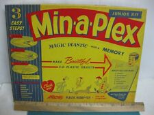 Vintage 1955, Min-A-Plex Toy Magic Plastic Craft Kit, New Old Stock, complete