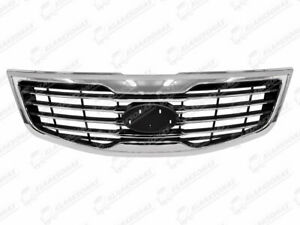 SPORTAGE 2010 - 2015 FRONT GRILL GRILLE GRILLS CHROME STRIPS 86352-4T010 FOR KIA