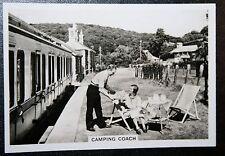 GWR Railway Camping Coach    Vintage Photo Card  # CAT B