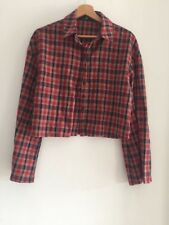 MissGuided Ladies Red Checkered Shirt Size 8 UK