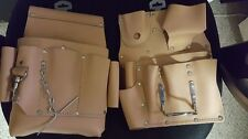 Lot of 2 CALMAX LEATHER TOOL POUCH BAG