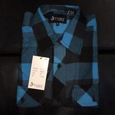 Men's Flannel -Triveni- Button Up Plaid Long Sleeve Shirt Sizes S-5X