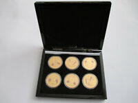 70th Anniversary VE day coin set (x6) with case, info, and certificate