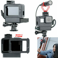 Housing Shell Case Microphone Cold Shoe Adapter Mount for GoPro Hero7 6 5 Camera