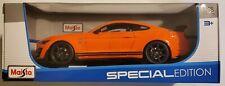2020 Mustang Shelby Gt500 Orange 1/18 Diecast Model Car Maisto Nib