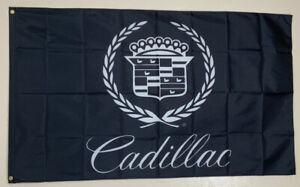Cadillac Racing Banner 3X5 Ft Flag Garage Wall Shop Decor Car Show Escalade CTS
