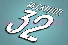 AC Milan Beckham #32 2009-2010 Homekit Nameset Printing