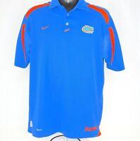 NIKE Team Florida Gators Mens Size M Dri-Fit Polo Shirt Short Sleeve Breathable