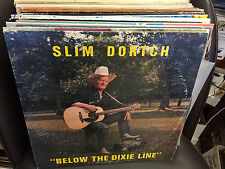 Slim Dortsch Below the Dixie Line LP RARE Private Lightning Ball SIGNED VG+
