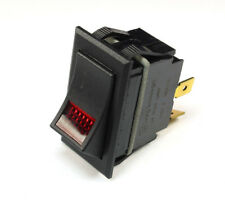 1pc  Carling Lighted Rocker Switch, RED JEWEL, SPST  On/Off  24v Lamp, 3 prong
