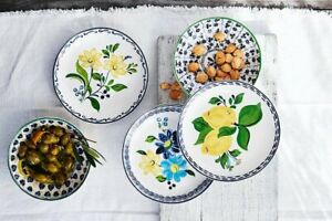 """Williams Sonoma NEW IN BOX Aerin Seville Appetizer 6"""" Plates- Set of 4"""
