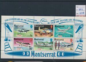 LO39355 Montserrat aviation airplanes good sheet MNH cv 25 EUR