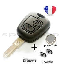 plip coque clé Citroen c1 c2 c3 c4 c5 c6 c8 2 boutons + pile + 2 switchs