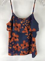 MM Couture by Miss Me Women's Sleeveless Ruffle Front Floral Cami Tank