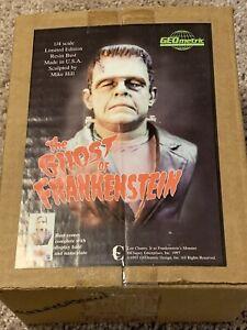 RARE: Frankenstein monster resin bust 1/4 scale resin, GEOmetric OOP