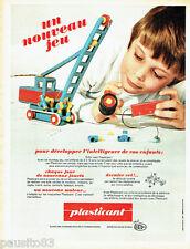 PUBLICITE ADVERTISING 026 1969   Plasticant   Jeux jouets