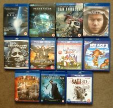 3D Films (Blu-ray) BUNDLE. Prometheus, Martian, Gravity, San Andreas, Saw, etc.