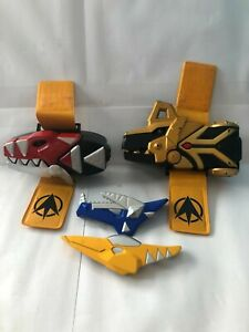 Power Rangers Dino Thunder Deluxe Morphers Brachio etc with wrist straps RARE