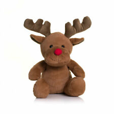 Reindeer Soft Plush Toy, Red Nose, Christmas Gift, Stocking Filler,Lapland Gift