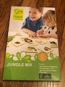 Hape Eco-toys Jungle Mix - create funny creatures; enviro-friendly match game