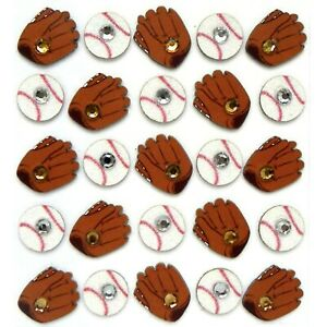BASEBALL and MITTS REPEATS Sports - Jolee's Boutique Scrapbook Sticker