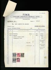 LETTERE COMMERCIALI FIMA FORNITURE INDUSTRIALI MATERIALI AFFINI BOLOGNA 1948