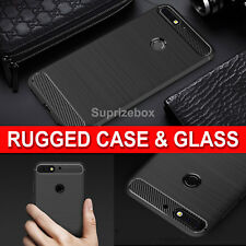 Case For Huawei Y7 2018 New 360 Shockproof Cover & Tempered Glass Protector