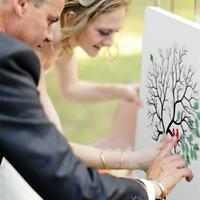 Thumbprint Fingerprint Tree Wedding Guest Book Guestbook Alternative Memory H