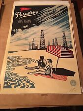 """OBEY Giant Shepard Fairey """"Paradise Turns"""" Lithograph Signed & Dated"""