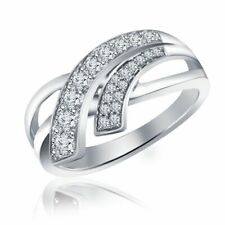 White Gold Finish Anniversary Wedding Band Women's 1.00 Ct Round Cut Diamond 10k
