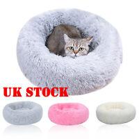 Pet Dog Cat Calming Bed Warm Soft Plush Round Cute Nest Deep Sleeping Caves Sale