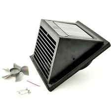 Ventilatore Ventilazione Solare NERO (1,2 W, 2 V, la consegna dell'aria 65m³/h, lama diametro 96 mm)