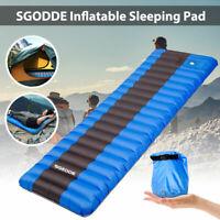 SGODDE 12CM Inflatable Sleeping Pad Air Mat Mattress Bag For Camping Hiking