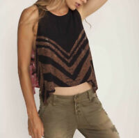 Free People Medium Touch Of Love Tie Side Top Sleeveless Shirt Tank Swing