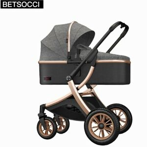Baby Stroller Luxury Carriages For Newborn Baby Can Sit Reclining Two-way