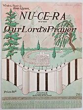 BOISE, IDAHO sheet music NU-CE-RA WITH OUR LORD'S PRAYER Christian song 1939