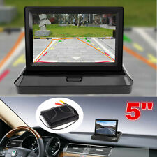 5 Inch Car Dashboard Mount Monitor LCD TFT Foldable Digital Screen 2 Video Input