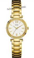 AUTHENTIC GUESS LADIES' PARK AVE SOUTH WATCH GOLD TONE W0767L2 BRAND NEW