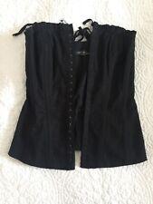 All Saints Spitalfields Ladies Black Corset Top Size 6