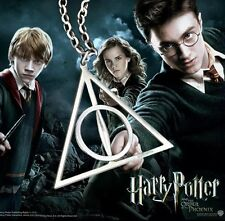 Harry Potter Deathly Hallows Necklace Pendant Chain Silver US Seller