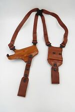 Galco Gunleather Tan MIAMI CLASSIC II SHOULDER SYSTEM 1911 with TIE DOWN SET