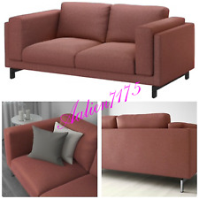 IKEA NOCKEBY Loveseat Slipcover Seat Cover Tallmyra Rust Red 403.198.50