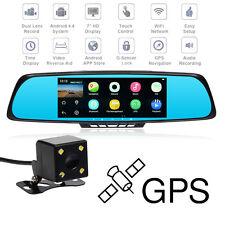 TOGUARD M30 7'' HD 1080P Bluetooth GPS Car Camera DVR Rearview Mirror Dual Lens