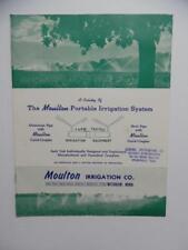 1950s Moulton Portable Irrigation System Farm Catalog Withrow Minnesota Vintage