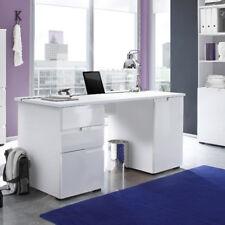 Schreibtisch Spice 2 Bürotisch Laptoptisch Tisch in MDF weiß Hochglanz 158 cm
