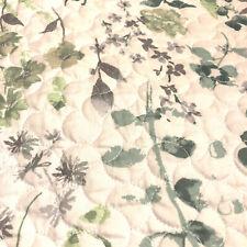 Full/Queen Lightweight Reversible Comforter plus 2 Shams, Green/Purple Flowers