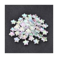 Paket 100+ Klar Acryl 10mm AB Sterne Perlen Y12145