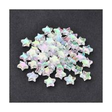 Packet 100+ Clear Acrylic 10mm AB Star Beads Y12145