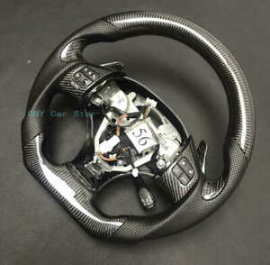 Customize 100% Real Carbon Fiber Steering Wheel For 2006-2011 Lexus IS ISF